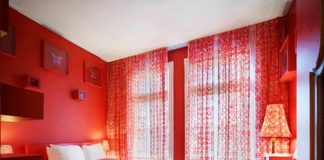 sơn nhà màu đỏ
