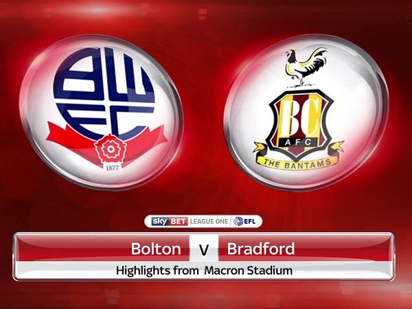 Nhận định Bolton vs Bradford City, 1h00 ngày 4/09