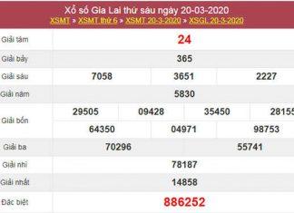 Soi cầu số đẹp Gia Lai 27/3/2020 - KQXSGL thứ 6