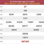 Soi cầu KQXS Bình Định 29/10/2020 thứ 5 cùng chuyên gia