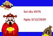 Soi cầu XSTN 3/12/2020