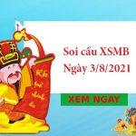 Soi cầu XSMB 3/8/2021